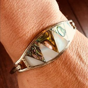 Jewelry - 925 sterling silver bracelet with Abalone